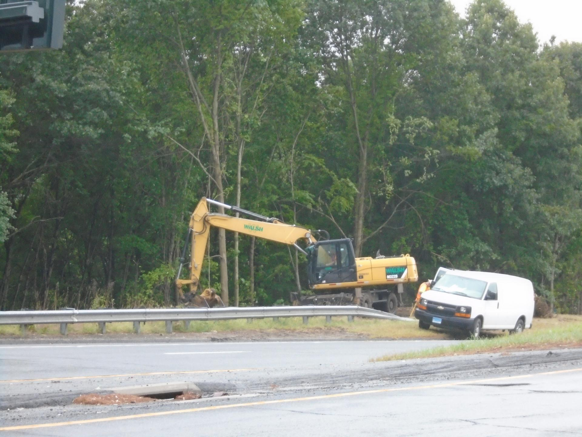 Start-up of construction at u-turn off Exit 35 (Route 8 Northbound)